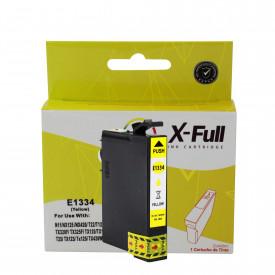 CARTUCHO DE TINTA COMPATÍVEL COM EPSON TO1334   T22/T25/TX120   YL - 8ML - X-FULL