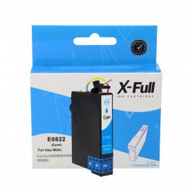CARTUCHO DE TINTA COMPATÍVEL COM EPSON TO822   R270/R390/RX590   CY - 12ML - X-FULL