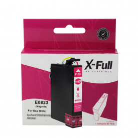 CARTUCHO DE TINTA COMPATÍVEL COM EPSON TO823   R270/R390/RX590   MG - 12ML - X-FULL